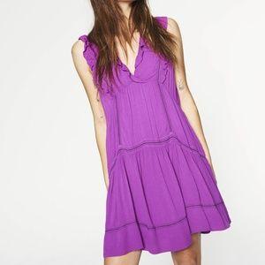 NWT ba&sh Nox Dress in Magenta